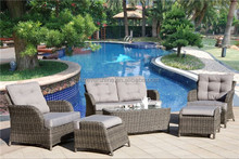 Garden furniture 4 Seaters outdoor rattan/wicker sofa set