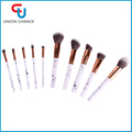 Marbled Makeup Brush Set 10PC Plastic Makeup Brush With Marble Printing