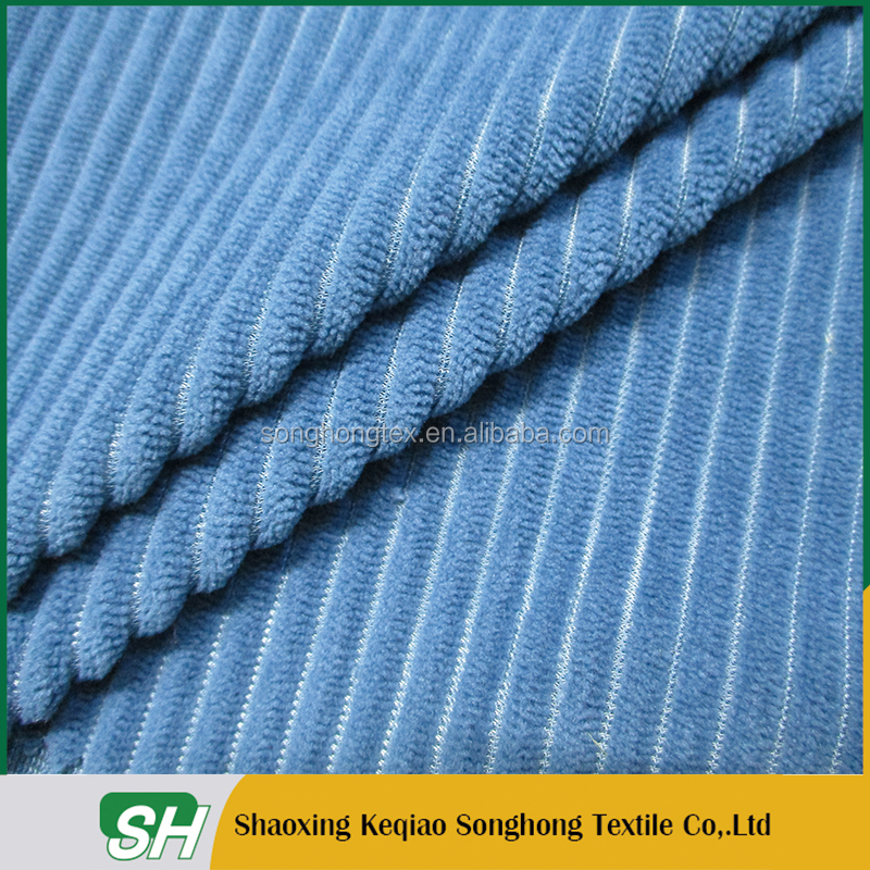 china suppier tricot flocked wide wale corduroy fabric