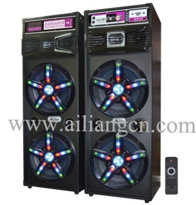 Ailiang Large Outdoor Stage Speaker Woofer with light Double 10 inch USBFM-7210A/2.0