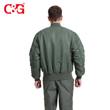 Cost price dark green bomber ma-1 flight jacket