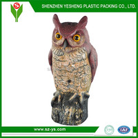 Plastic owl deocys with inductive electronic bird call sound