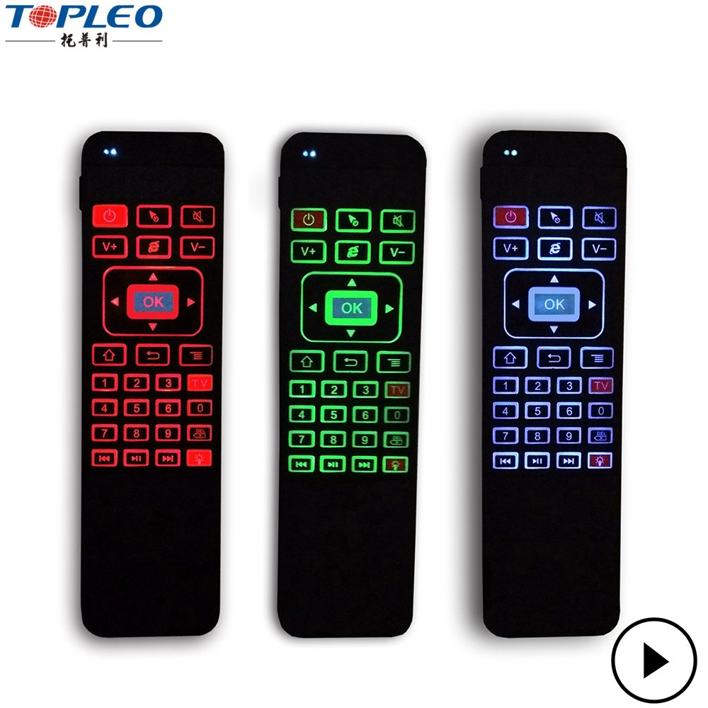 Competitive Price P3 three colors blacklight universal tv remote control 2.4g WiFi wireless mouse keyboard