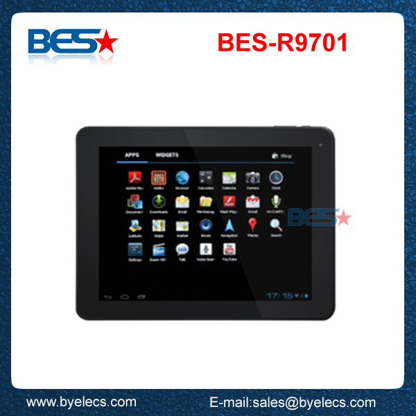 Most popular dual core 9.7 inch rockchip3066 square tablet pc