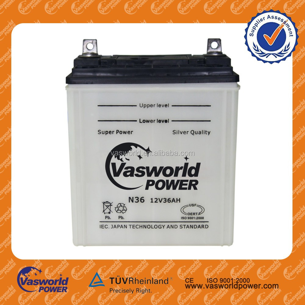 electric car battery used car battery price ns40zl 12V36AHcar battery regenerator