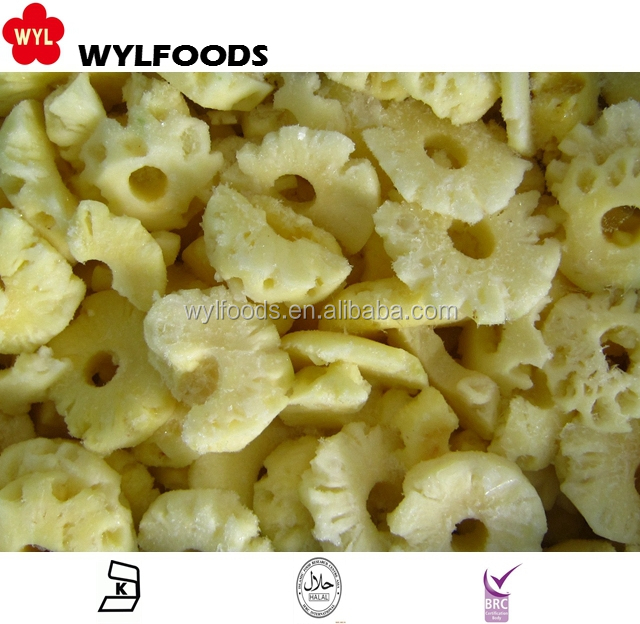 2017 High quality Frozen IQF Chinese Pineapple Slices