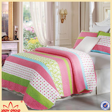 Best selling products microfiber filling quilt, patchwork quilt and warm printed quilt set