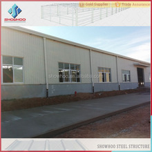 Steel structure erection and fabrication / pre engineered steel buildings for steel warehouse shed