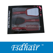hair brush sets with gift box ,Combs, Mirror and cushion Brush