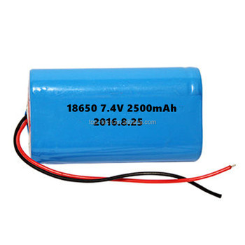 7.4v 2500mAh lithium ion battery packs with PCB li-ion battery pack