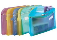 clear pvc handle cosmetic mini packing bag with zipper