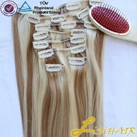 Alibaba Remy Hair Weave For Black Women double drawn thick human hair extensions clip on 100g