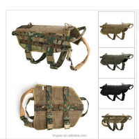 New Arrival Luxury Protection Life saving Safety Dog Vest Eco-Friendly Tactical Molle Human Pet Clothes Vest Jacket Multicam