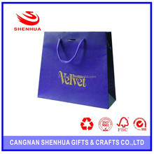 Luxury Gift Paper Bag With Recycled Paper With Cotton Handle