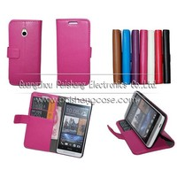 Wallet flip leather case for HTC One mini
