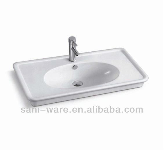 0.8m ceramic bathroom kitchen cabinets sink manufacturers made in China Foshan S5505-80