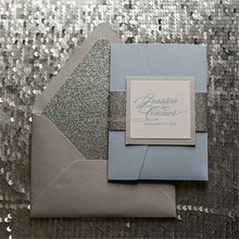 Elegant design royal wedding invitation card for europe
