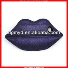 Luxury 3D Sexy Charm lips silicone cell phone case for High Society (MYD-1000)