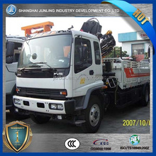 8ton heavy crane truck price with good quality chassis