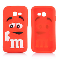 M & M Chocolate Bean lovely 3D silicone case for samsung s5