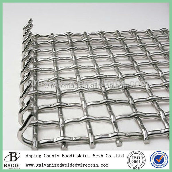 screen 304 stainless steel crimped wire mesh low price