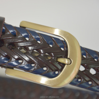 Dison fashion Genuine leather genuine python snake skin leather belt manufacturer
