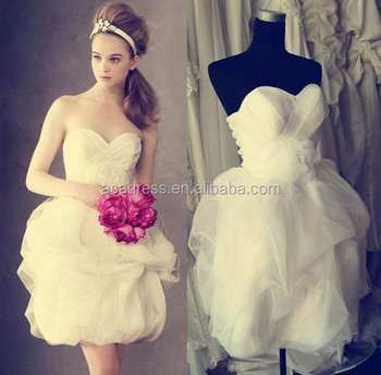 Plus Size Bridal Gowns Sexy Short Wedding Dress Beach Organza Baby