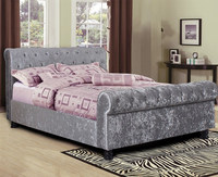 Turkish Furniture from China with Price Crystal Velvet Beds