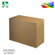 JS-URN017 cheap natural finish solid wood cremation urn