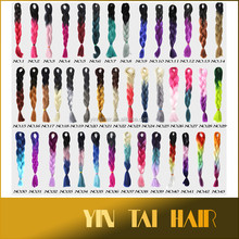 Hot Sale Ombre Synthetic Hair Braiding/ombre color jumbo braid synthetic hair