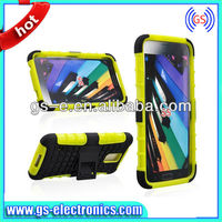 Hybrid Robot PC TPU Back Cover Case for Samsung Galaxy S5 I9600 kickstand case