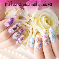 hot water christmas sticker nail art for