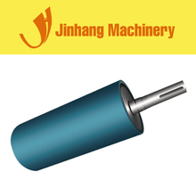 China Galvanized Gravity Idler Rubber Lagged Pulley Conveyor Drive Roller