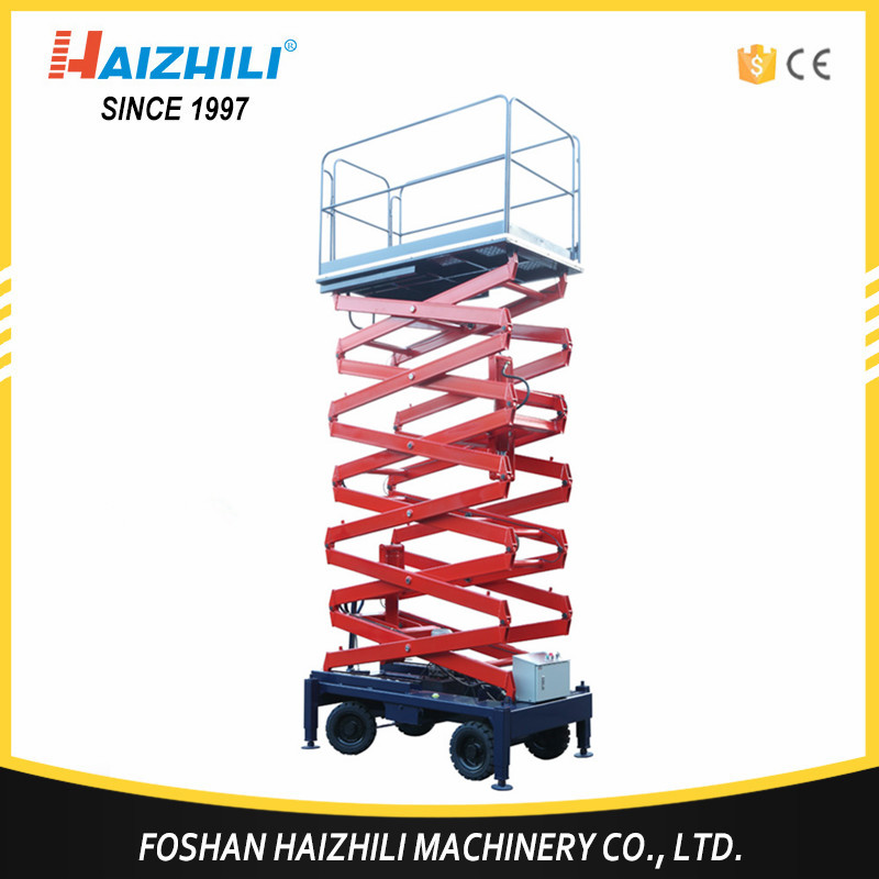 Wholesale electric scissors lift platform, 500kg 9m hydraulic full power work platform
