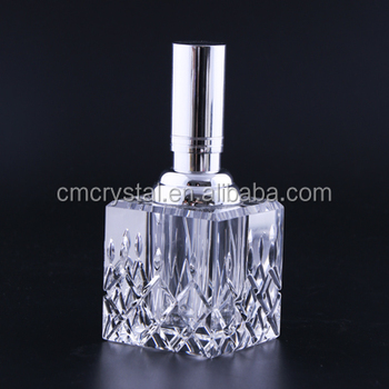K9 Crystal oil bottles with pattern engraving,6ml perfume oil bottles