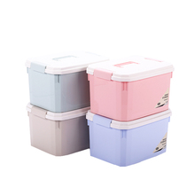 Lid Custom Made Large Cloth Toy Plastic Storage Box With Wheel