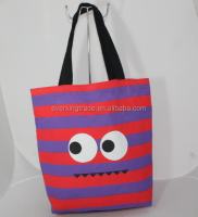 cute cotton extra heavy canvas bag smile face tote bag