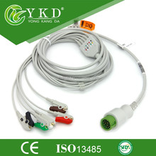 One-Piece ECG Cable with 5lead,AHA/IEC ,Clip for BeneView T5/T8, Beneheart D6 and iPM-9800