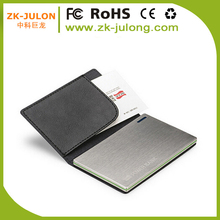 Factory hot sale power bank credit card 2000mah card power bank for corporate giveaways