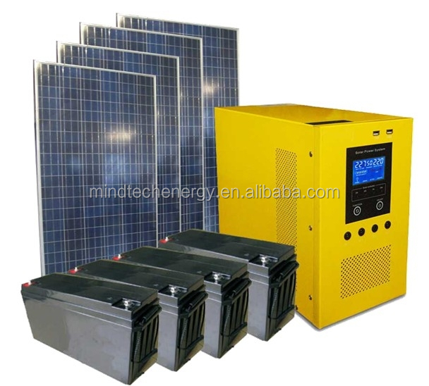 2000w portable solar power generator led lighting with ATS