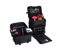 Nylon Professional Makeup Trolley Case With Drawers