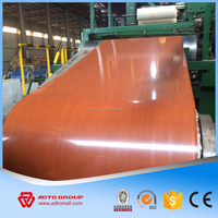new designed construction and furniture raw materials wooden grain coated steel coil