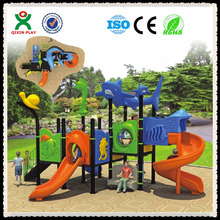 kid wood playground kids climbers and slides kids entertainment equipment QX-048B