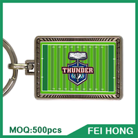 China Supplier sport theme keyring with printing logo for sports keychain
