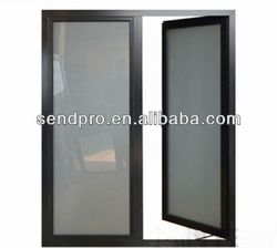 AS&NZ 2208 frosted glass interior french doors,double panels aluminum french door