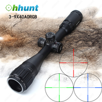 Tactical Optics JouFou 3-9X40 AO Riflescope Full Size Mil Dot Red Green Blue 3 Level Illuminated Reticle Hunting Rifle Scope
