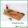 Rectangle bamboo cutting board with knife rack