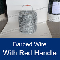 double twisted barbed wire with red handle