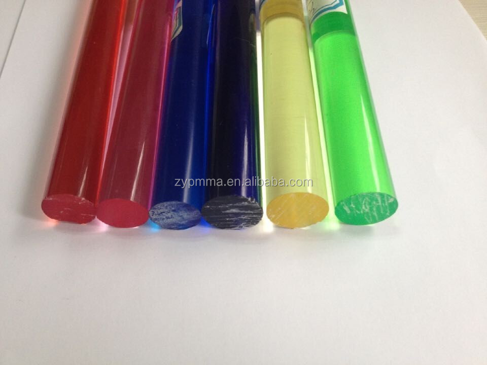 ZHUOYUE OEM Colored Extrusion Acrylic Rod