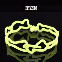 2016 Fashionable Promotional tattoo designs hollow silicone bracelet,hollow wristband